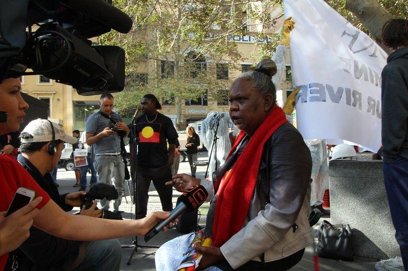 NT Borroloola Indigenous travel to Glencore in Sydney, 2014. Credit:Lock the Gate Alliance
