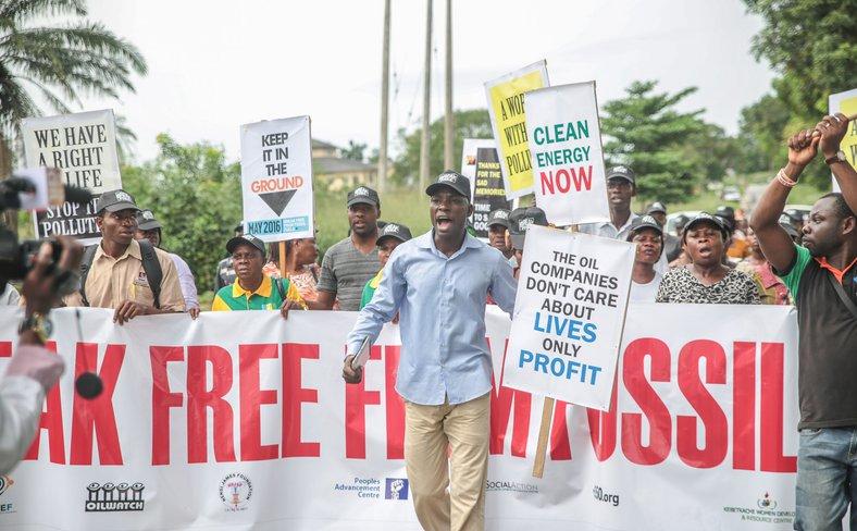 Nigeria Break Free oil protest 2016