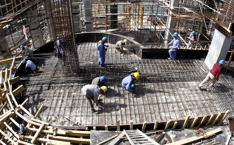 Qatar construction workers