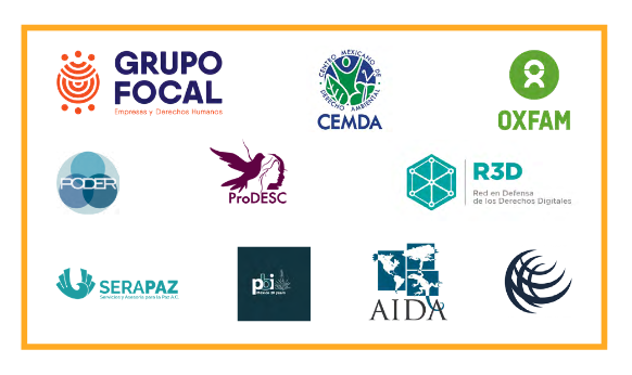 Logos of the The Civil Society Focal Group on Business and Human Rights.