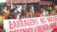 Credit: Friends of the Earth International, Indigenous people protest against hydroelectric dams on the Madeira River, Brazil, 2006,