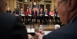 President Trump and CEOs attend meeting of the administration's Strategy and Policy Council in April 2017. (Photo: White House Official Photo)