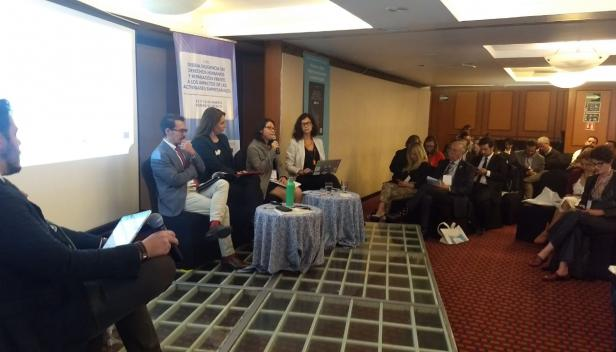 Panel at Mexico Due Diligence event, March 2020