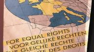 Poster about migrant rights in Europe - photo by Stephen Codrington