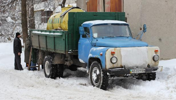 Milk truck in Ukraine - photo by George Chernilevsky