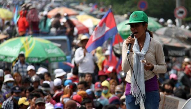 Cambodia workers strike Jan