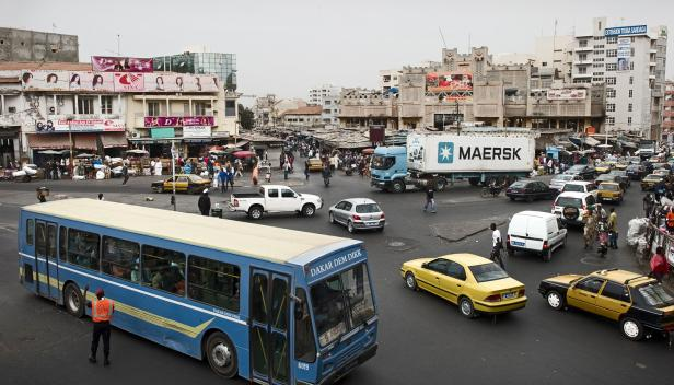Streets of Dakar, Senegal - photo by Maersk Lines