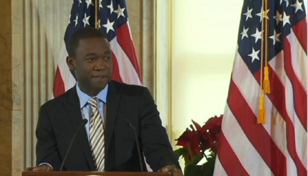 Adewale Adeyemo at launch of US National Action Plan on Responsible Business Conduct, from US Treasury Dept. video
