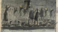 Egyptian dock workers loading coal, James McBey 1916, Imperial War Museum
