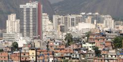 Office Towers and Favela Rio de Janeiro Brazil - photo by Adam Jones