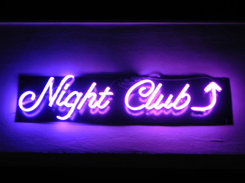 Nightclub neon sign-credit-http://www.publicdomainpictures.net/view-image.php?image=11194&picture=nightclub-in-neon
