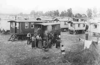 Marzahn, the first internment camp for Roma (Gypsies) in the Third Reich. Germany, date uncertain.  — Landesarchiv Berlin