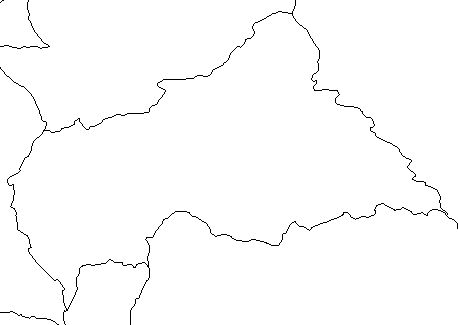 Central African Republic-outline-map-credit-Matt-Rosenberg-About com-geography