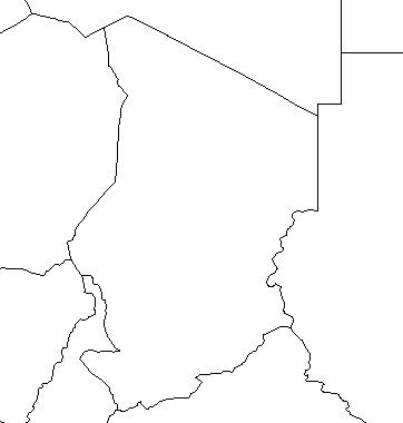 Chad--outline-map-credit-Matt-Rosenberg-About com-geography