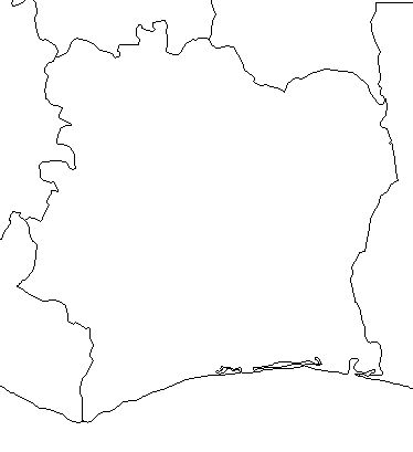 Cote d'Ivore--outline-map-credit-Matt-Rosenberg-About com-geography