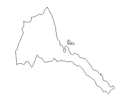Eritrea--outline-map-credit-Matt-Rosenberg-About com-geography