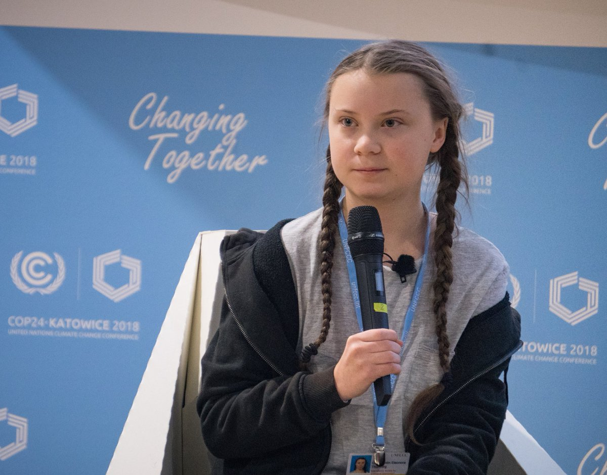 Greta Thunberg, 15-year-old climate activist, speaks at COP24