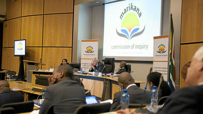 Image result for marikana commission of inquiry