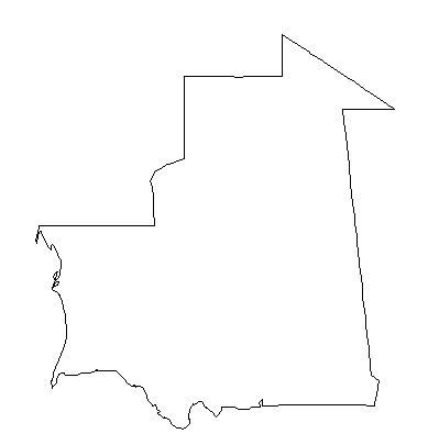 Mauritania-outline-map-credit-Matt-Rosenberg-About.com-geography