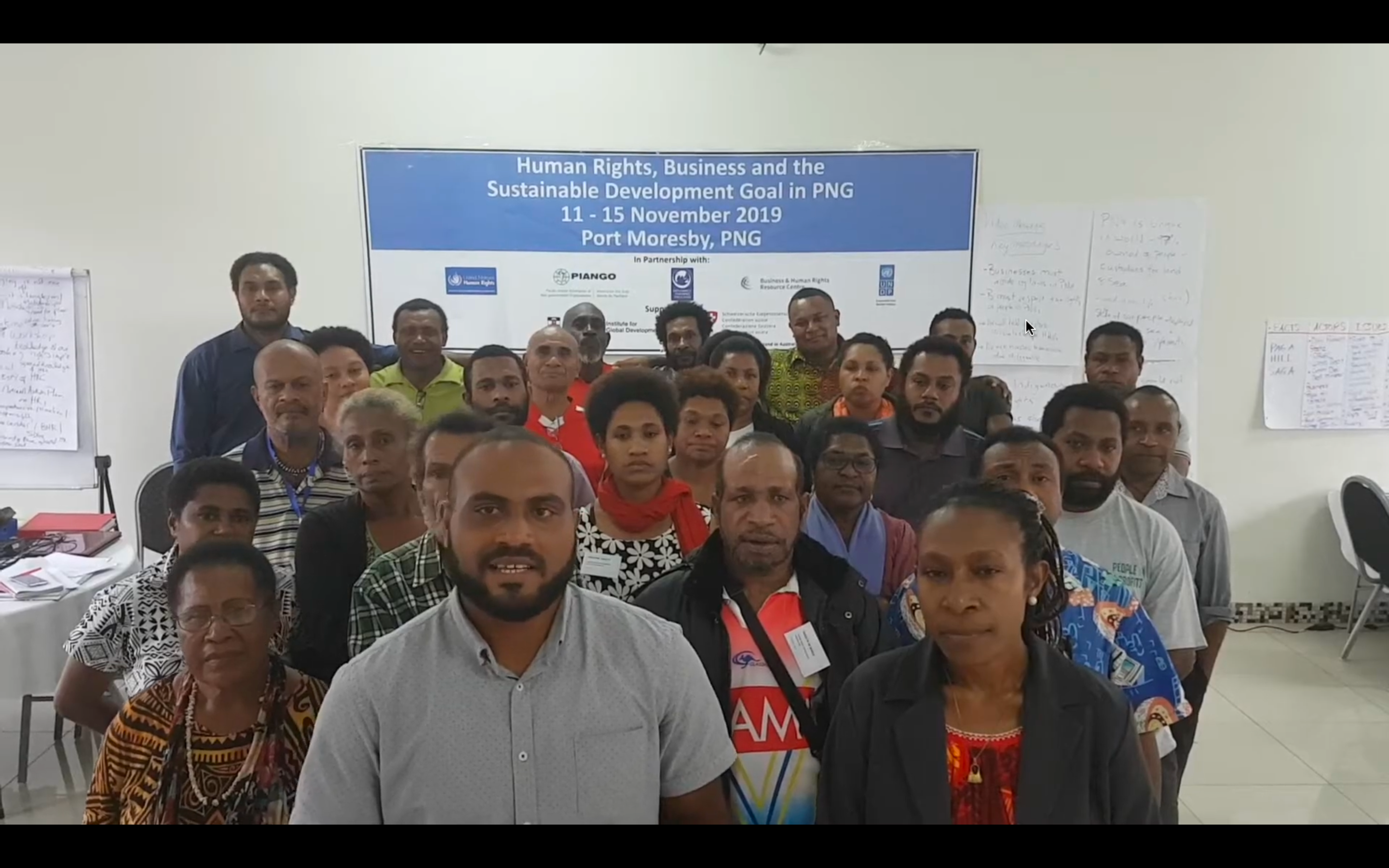 A message to the UN from Papua New Guinea BHR human rights defenders.