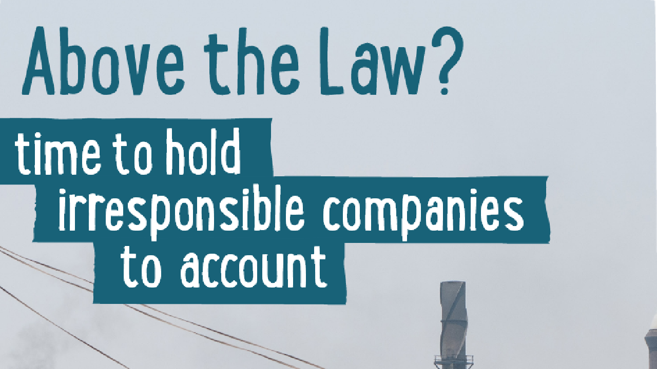 Traidcraft Above the Law? Time to hold irresponsible companies to account