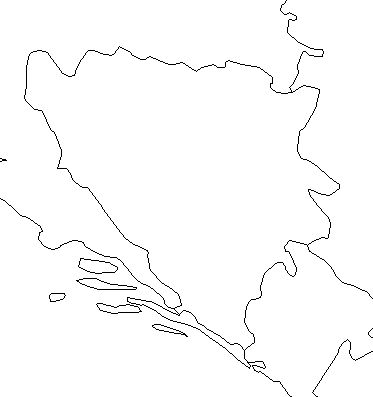 Bosnia and Herzegovina-outline-map-credit-Matt-Rosenberg-About.com-geography