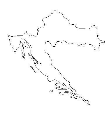 Croatia-outline-map-credit-Matt-Rosenberg-About.com-geography