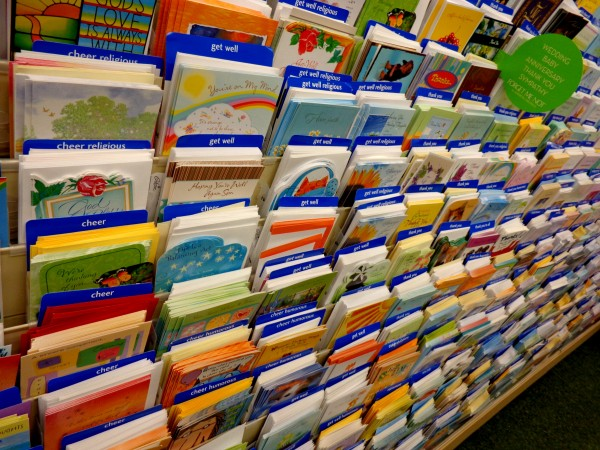 Greeting card Display in Store-credit-http://www.photos-public-domain.com/2013/01/21/greeting-card-display-in-store/