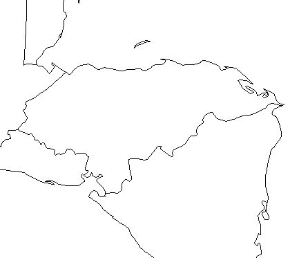 honduras-outline-map-credit-Matt-Rosenberg-About.com-geography
