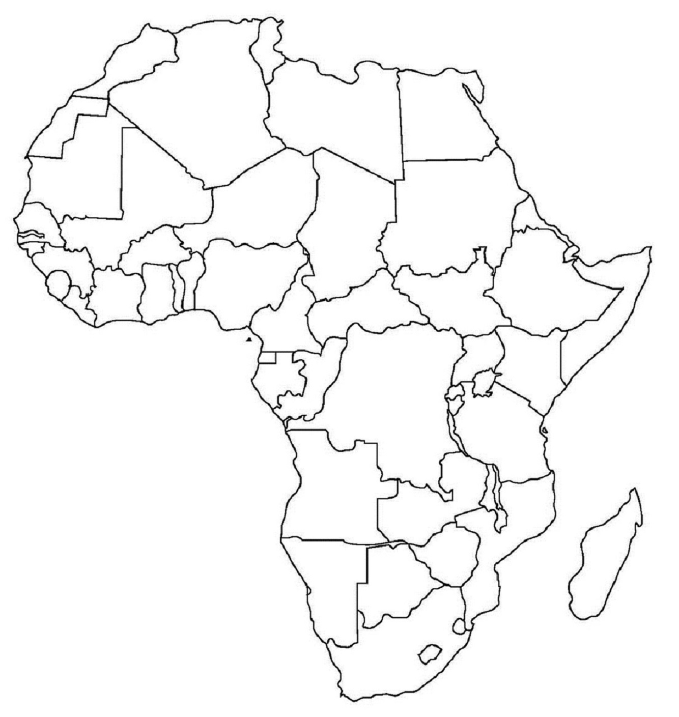 Blank Africa Map Pdf | Map Of Africa