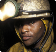 Miner with torch