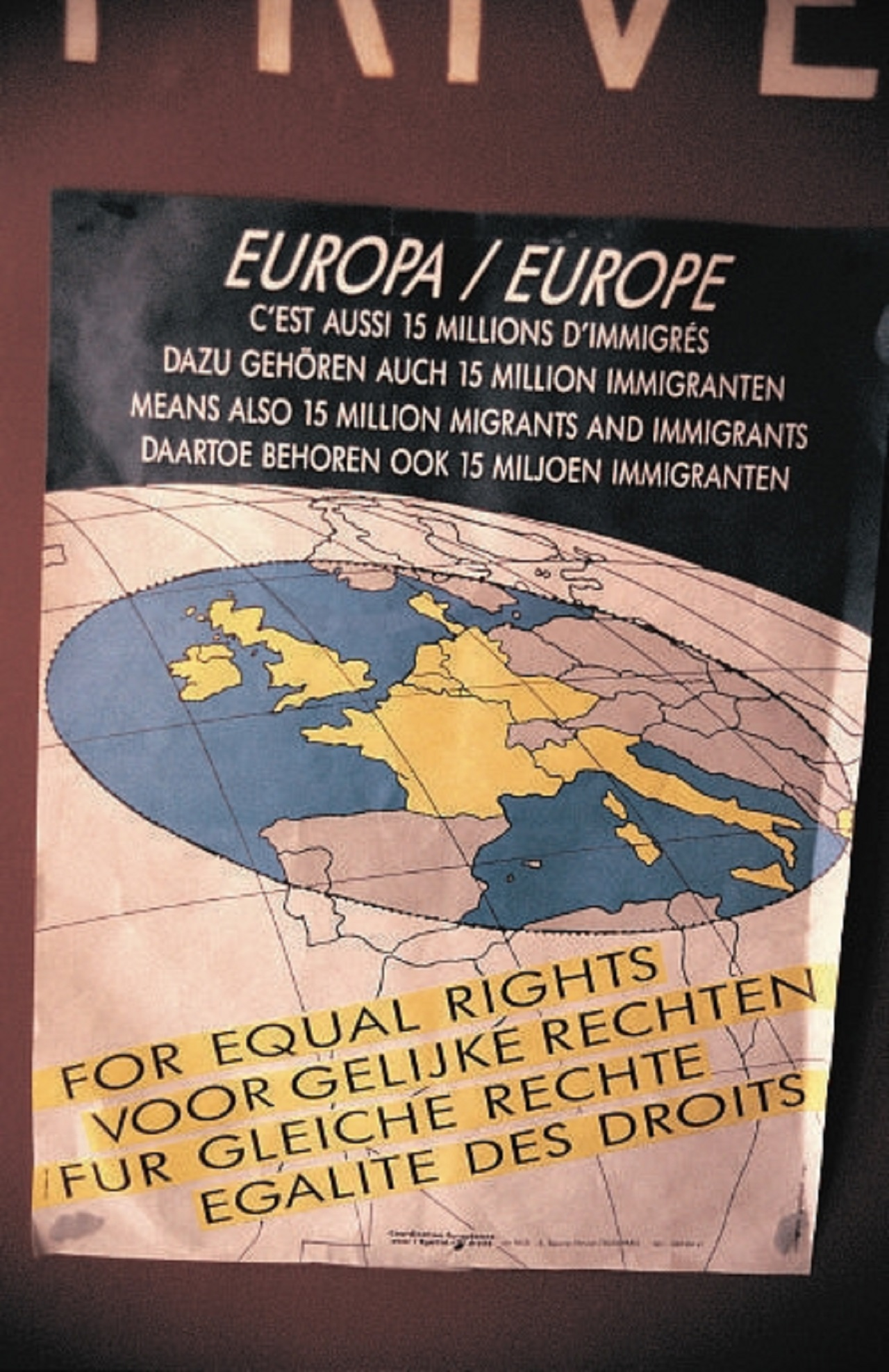 Poster about migrant rights europe