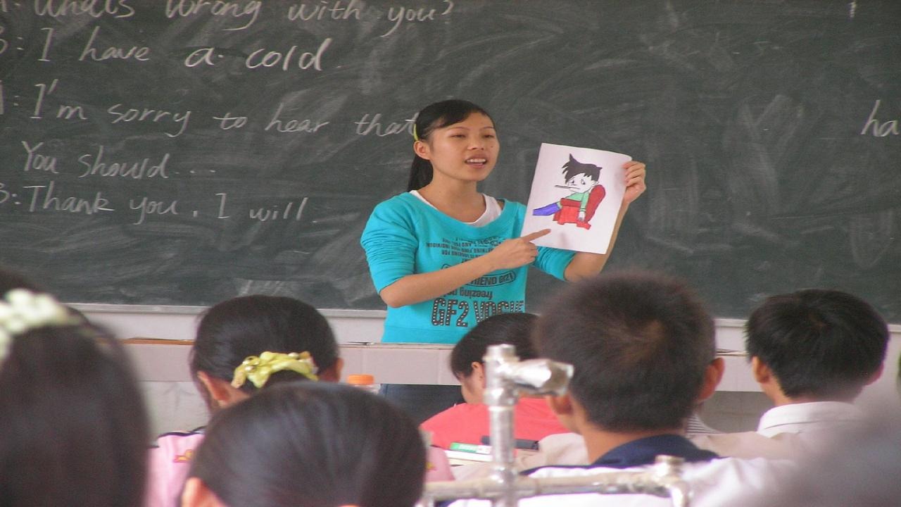 Student teacher in China By Rex Pe from Savannah, Georgia, USA (student teacher  Uploaded by Adrignola) [CC-BY-2.0 (http://creativecommons.org/licenses/by/2.0)], via Wikimedia Commons