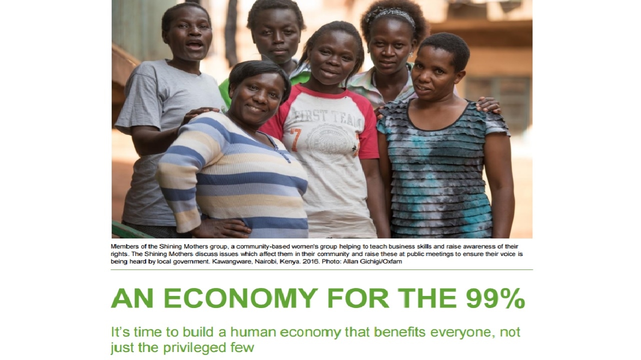 Oxfam: An Economy for the 99%. Credit: Allan Gichigi