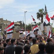 Syrian demonstration, Credit - Shamsnn, Creative Commons