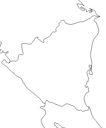 nicaragua-outline-map-credit-Matt-Rosenberg-About.com-geography
