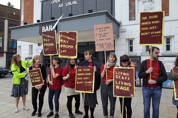 Living-wage-Brixton-Ritzy-cinema-strike-UK-2014