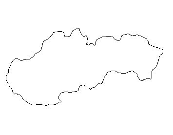 Slovak Republic-outline-map-credit-Matt-Rosenberg-About.com-geography