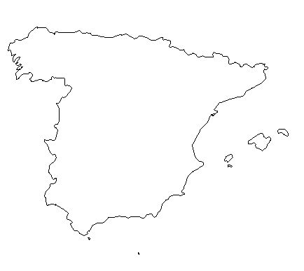Spain-outline-map-credit-Matt-Rosenberg-About.com-geography