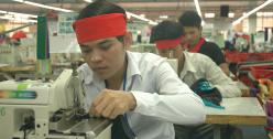 Cambodian male garment workers, photo credit: ILO licensed under CC BY-NC-ND 2.0