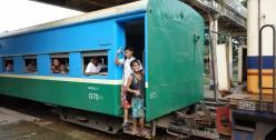 Train in Burma