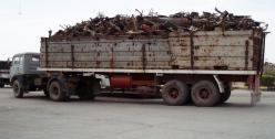 Truck with scrap metal, North Africa