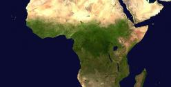 Aerial view of Africa