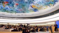 Kerry concludes his address to Delegates at the UN Human Rights Council Chamber