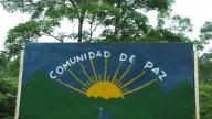 Peace community San Jose de Apartado sign (Credit: PBI)
