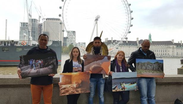 Image: Brazil activists in London last November