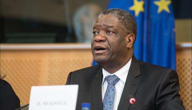 Dr Denis Mukwege at the European Parliament in 2014. Image: European Parliament via Flickr