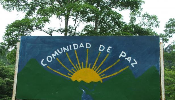 Peace community San Jose de Apartado sign (Credit: PBI)
