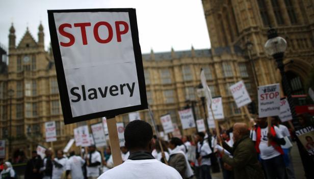 Slavery protest